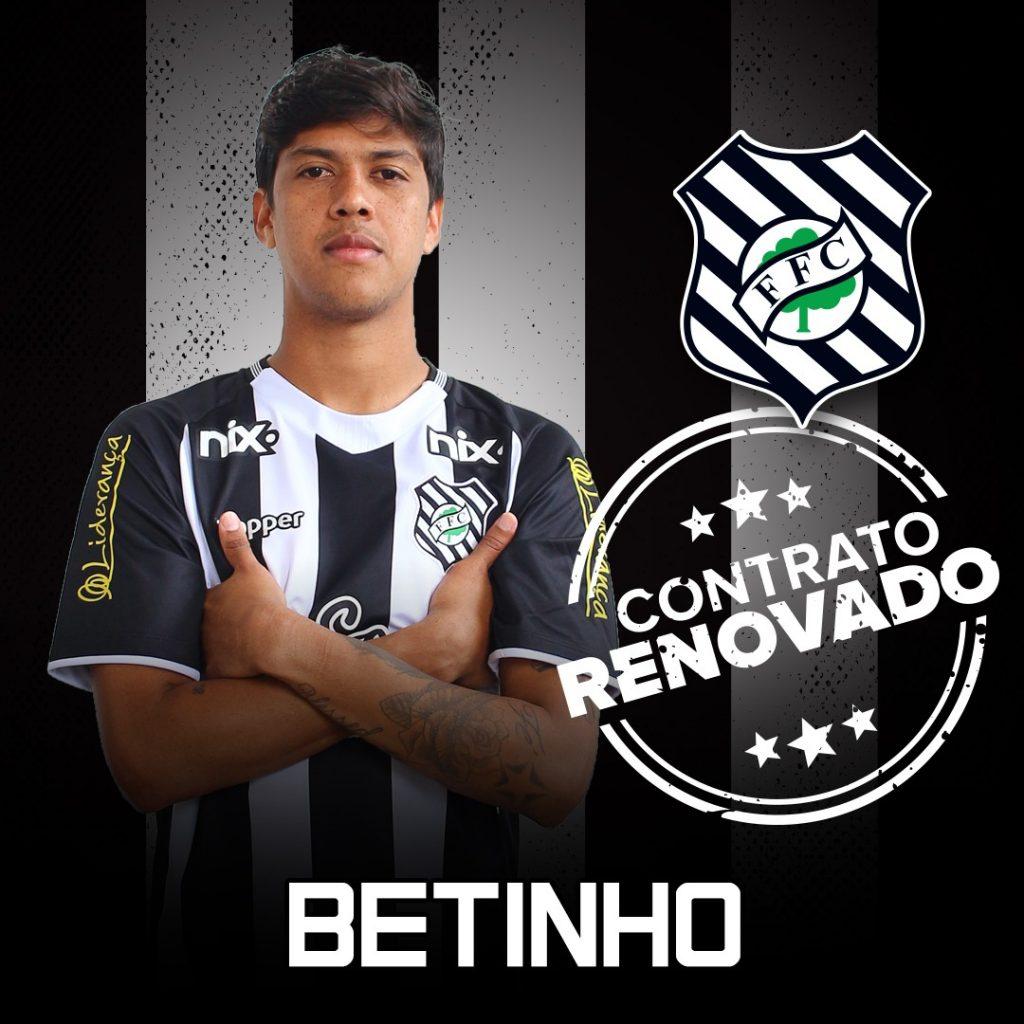 Volante Betinho renova contrato com o Figueirense